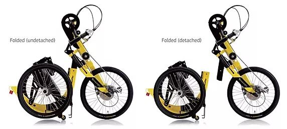 foldable handy trike