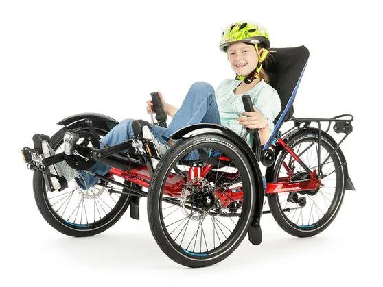disabled child riding trike