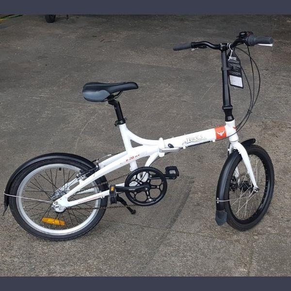 Folding bike side